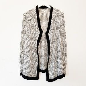 Lou And Grey Draped Open Front Cardigan Sweater